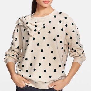 Kate Spade Deco Dot Bow Sweatshirt